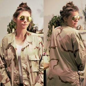 Vintage CAMO Jacket, DESERT camouflage Coat Combat